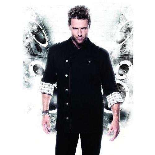 Bluza kucharska, rozmiar 64, czarna | KARLOWSKY, Rock Chef