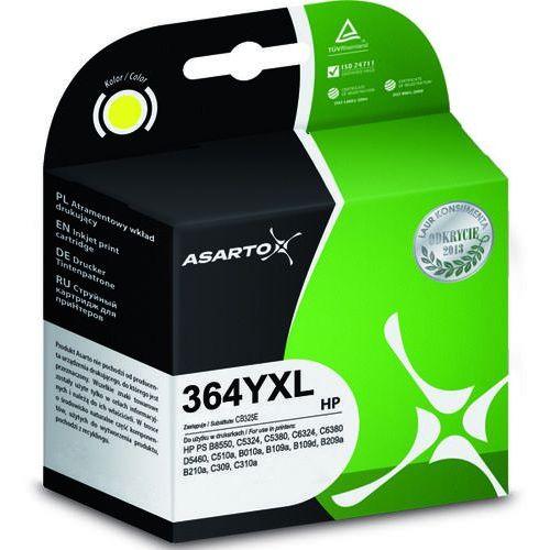 Tusz AS-H364YXN Yellow do drukarek HP (Zamiennik HP 364XL / CB345EE) [13 ml]