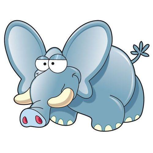 Słoń Bonawentura - drukowana naklejka wycięta po obrysie