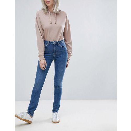 thursday high waist skinny jeans - blue, Weekday