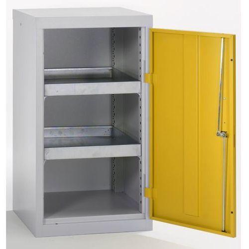 Stumpf-metall Szafa ekologiczna, drzwi zamknięte, wys. x szer. x głęb. 900x500x500 mm, 2 półki