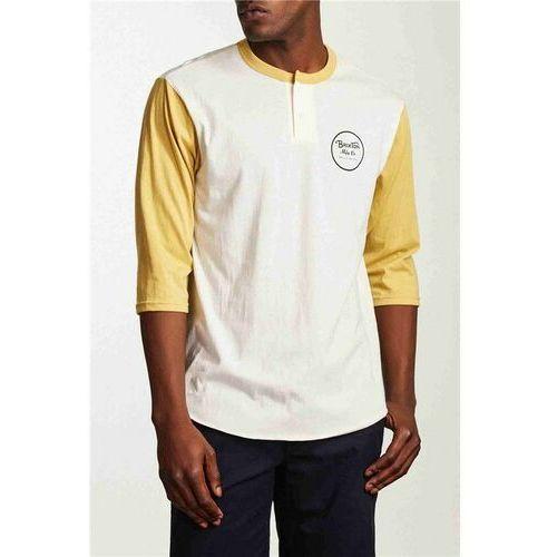 koszulka BRIXTON - Wheeler 3/4 Slv Henley Tee Off White/Modela (WHMOD) rozmiar: L
