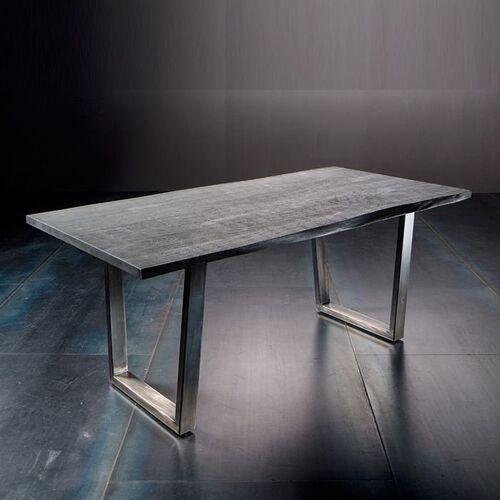 Fato luxmeble Stół catania obrzeża ciosane szary piaskowany, 240x100 cm grubość 5,5 cm