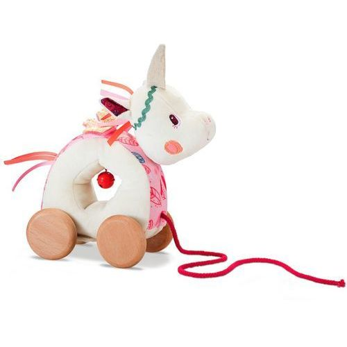 Zabawka do ciągnięcia na sznurku - jednorożec louise l83060 marki Lilliputiens