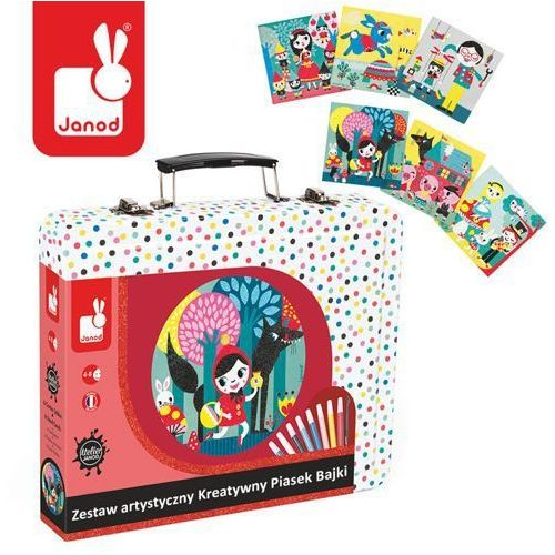 Janod Zestaw artystyczny kreatywny piasek bajki - zabawki dla dzieci