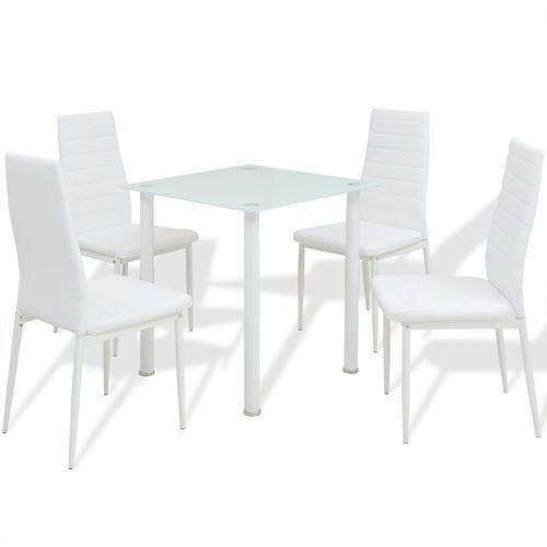 zestaw mebli do jadalni biały, 5 elementów marki Vidaxl