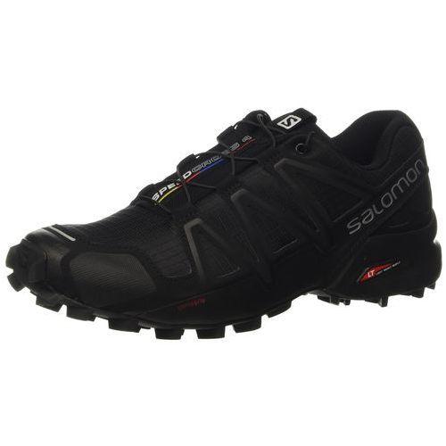 Buty do biegania w terenie Salomon Speedcross 4 dla mężczyzn, kolor: czarny (Schwarz/Schwarz/Schwarz-Metallik), rozmiar: 41.3 EU, w 5 rozmiarach
