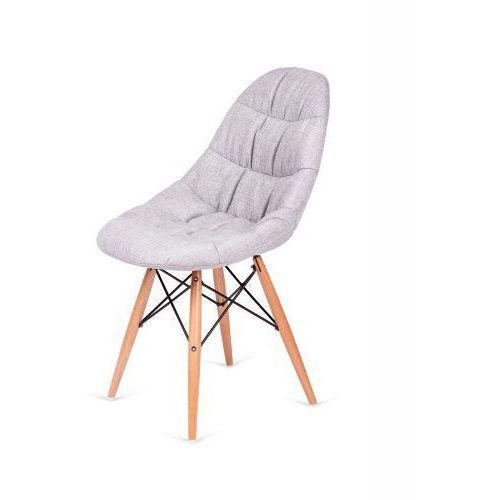 Krzesło nowoczesne RUGO szare tkanina, kolor szary