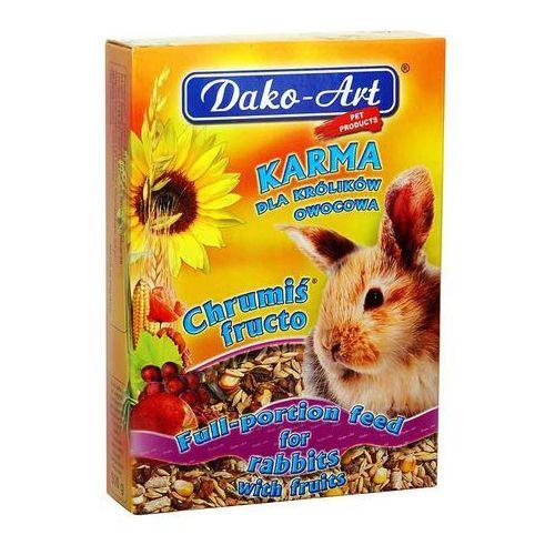 Dako-art  chrumiś fructo - pełnowartościowy pokarm z owocami dla królików 500g