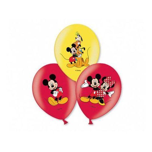 Balony urodzinowe Myszka Mickey - 27 cm - 6 szt, BGNP/9007-A
