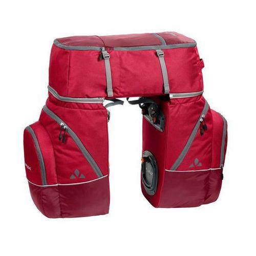 Vaude karakorum torba rowerowa 3-piece czerwony 2018 sakwy (4052285399160)