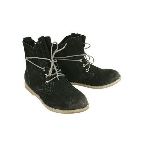 Marco tozzi 25112-33 black antic, trzewiki damskie - czarny