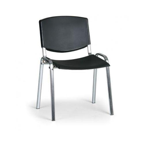 Krzesło konferencyjne Smile, czarny - kolor konstrucji chrom