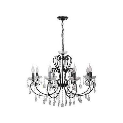 AURORA Czarna z kryształkami 8xE14 Lampa wisząca żyrandol Candellux 38-73747
