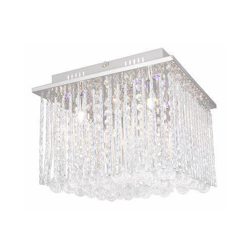 Reality Plafon lampa sufitowa shelda rgb 4x33w g9+ led rgb chrom / kryształ 613584-06 (5906737308721)