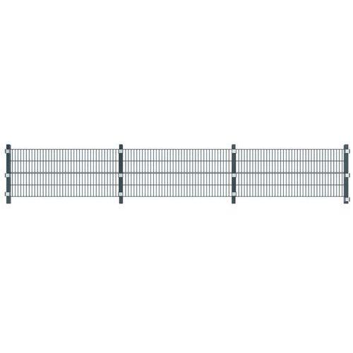 panel ogrodzeniowy 6m ze slupkami, szary antracyt, marki Vidaxl