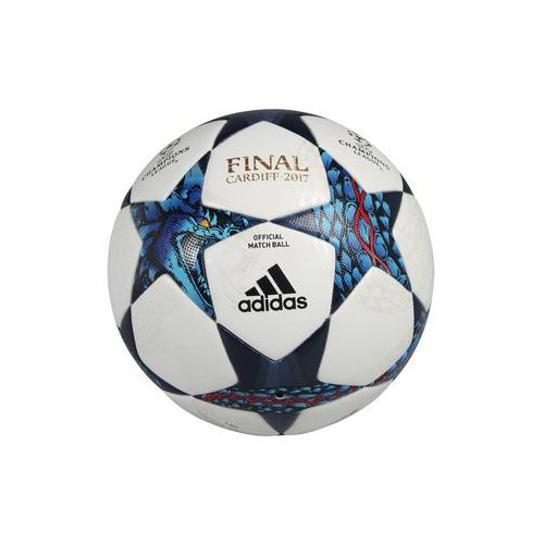 adidas Performance FINALE CARDIFF 2017 Piłka do piłki nożnej white/blue/cyan