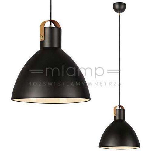 LAMPA wisząca EAGLE 106550 Markslojd metalowa OPRAWA zwis kopuła czarna, kolor Czarny