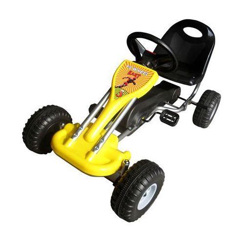 vidaXL Gokart na pedały w kolorze żółtym z kategorii Gokarty