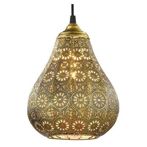 Trio JASMIN lampa wisząca Mosiądz, 1-punktowy - Vintage - Obszar wewnętrzny - JASMIN - Czas dostawy: od 4-8 dni roboczych, kolor Złoty