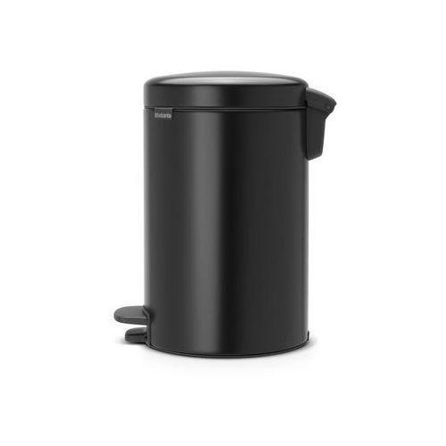 Brabantia Kosz na śmieci pedałowy newicon 12l matowy czarny (8710755113741)