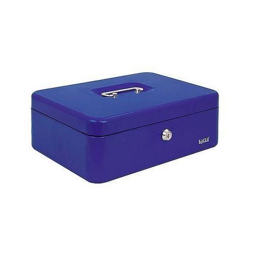 Kasetka na pieniądze EAGLE 8878M niebieska 82x192x262mm