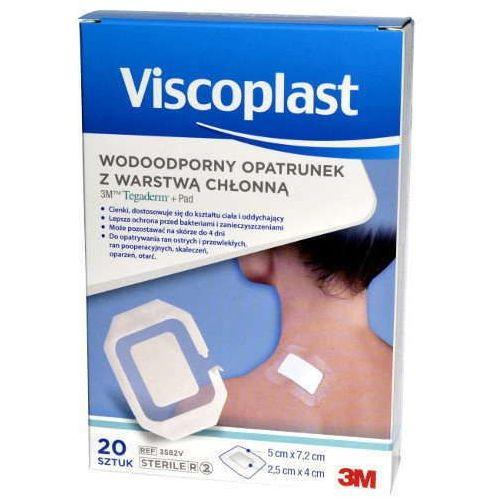 3m viscoplast Viscoplast tegaderm + pad wodoodporny opatrunek z warstwą chłonną 5 x 7,2cm x 20 sztuk