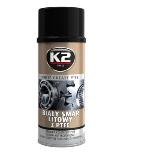 K2 biały smar litowy z teflonem ptfe 400ml