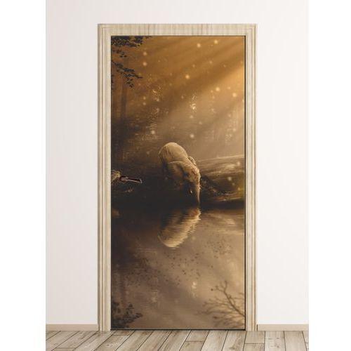 Wally - piękno dekoracji Fototapeta na drzwi baśniowy słoń fp 6248