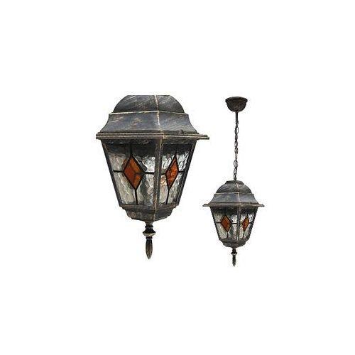 Zewnętrzna LAMPA wisząca MONACO 8184 Rabalux IP43 OPRAWA ogrodowa outdoor złoto antyczne