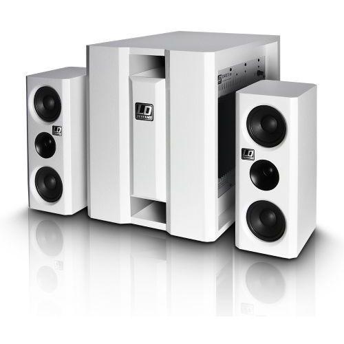 Ld systems dave 8 xsw zestaw nagłośnieniowy 150w + 2x100w, biały