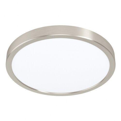 99232 fueva 5 4000k oprawa plafon natynkowa stal nikiel satynowy / plastik biały h: 28 mm | Ø 285 mm lampa marki Eglo