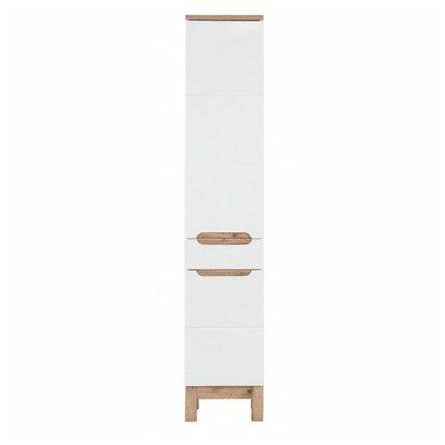 Słupek łazienkowy stojący Marsylia 2X - Biały połysk, BALI-BIAŁY-800