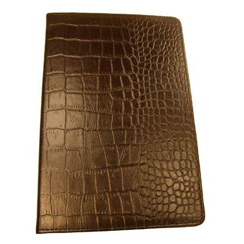 Super pojemny wizytownik na 400 wizytówek wykonany ze skóry naturalnej o fakturze imitującej skórę krokodyla - kolekcja classic - symbol kw-46/400k marki Tomi ginaldi
