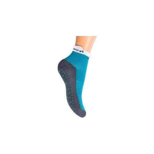 Skarpetki TRAMPOLINY ABS 32-34 BLUE - Skarpetki antypoślizgowe