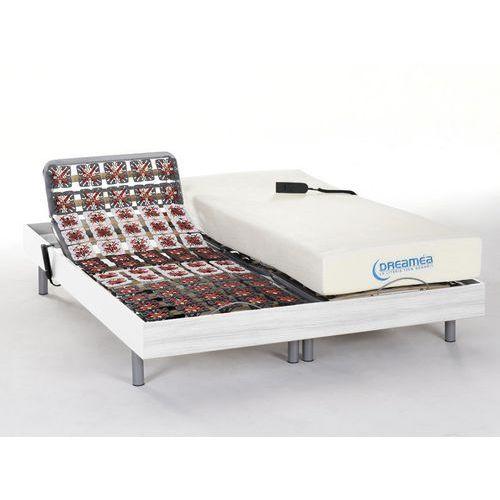 Dreamea Komplet relaksacyjny całość z płytek+pamięć kształtu ciała hesiode iii marki - silniki okin - biały - 2 x 80 x 200 cm