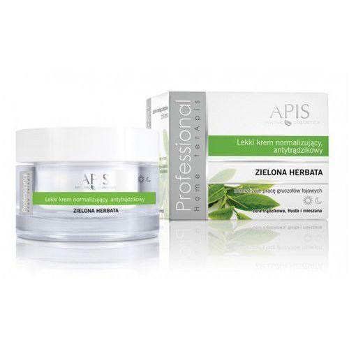 Lekki krem normalizujący, antytrądzikowy z zieloną herbatą Apis Home Terapis 50 ml