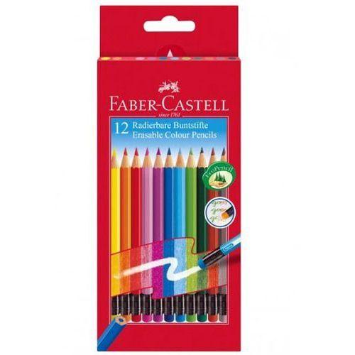 Faber-castell Kredki ołówkowe z gumką 12 kol. /116612/
