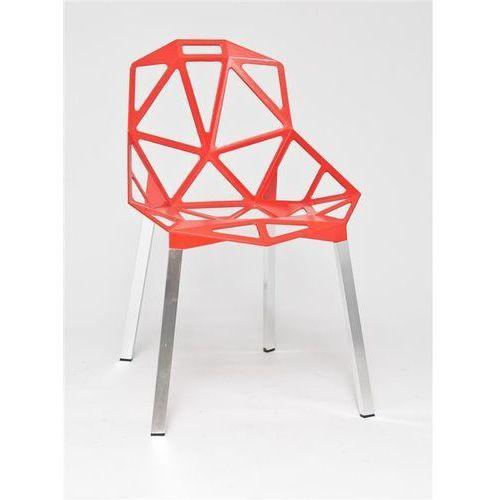 Krzesło Gap inspirowane One Chair, kolor czerwony