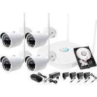 Ivelset Monitoring zestaw bezprzewodowy 4 kamery wifi 1080p + rejestrator ip + dysk 500gb