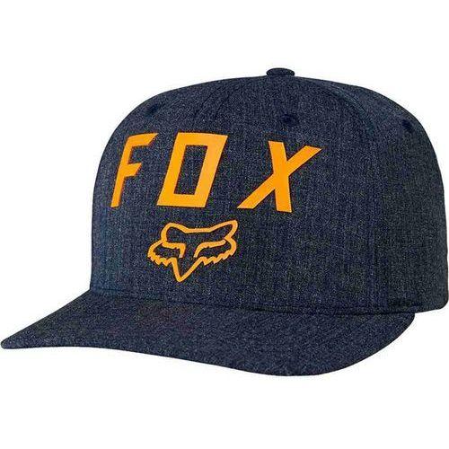 czapka z daszkiem FOX - Number 2 Flexfit Heather Midnight (491) rozmiar: S/M
