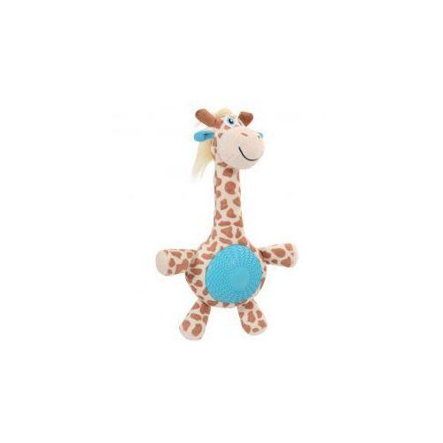 Żyrafa z dźwiękiem - pluszowo - gumowa zabawka dla psa  - 32 cm marki Zolux