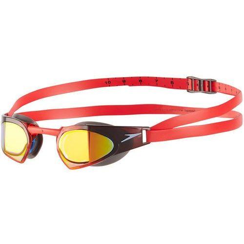 speedo Fastskin Prime Mirror Okulary pływackie czerwony 2018 Okulary do pływania (5053744337227)