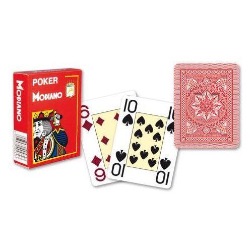 4 rogi 100% karty plastikowe - czerwone marki Modiano