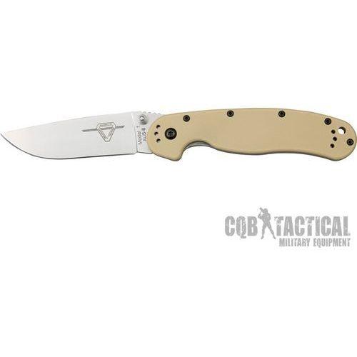 Nóż Ontario RAT 1 Folder Silver - Desert Tan Handle 8848DT