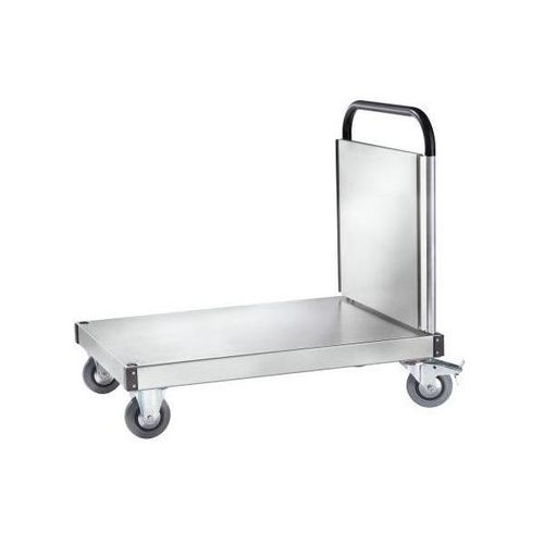 Wózek platformowy - aluminium, wewn. dł. x szer. 1000x655 mm, nośność 300 kg. Mo