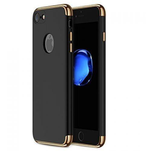 Ekskluzywne Czarno Złote etui do iPhone 7, kolor wielokolorowy