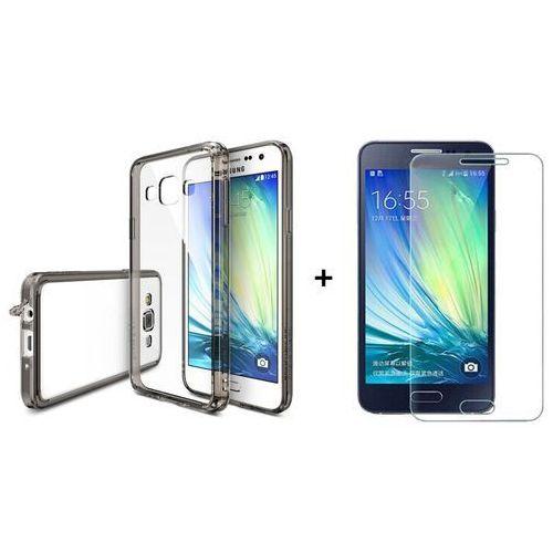 Zestaw   Rearth Ringke Fusion Smoke Black + Szkło ochronne   Etui dla Samsung Galaxy A3