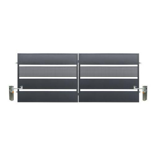 Brama dwuskrzydłowa z automatem tebe 4 x 1,58 m ocynk antracyt marki Polbram steel group