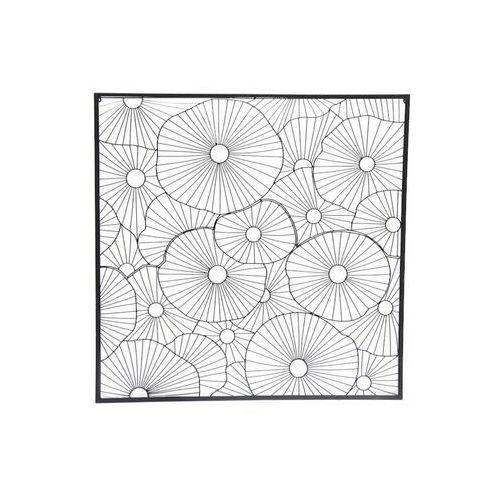 Vente-unique Metalowa dekoracja ścienna metis - 90x2x90cm - kolor czarny